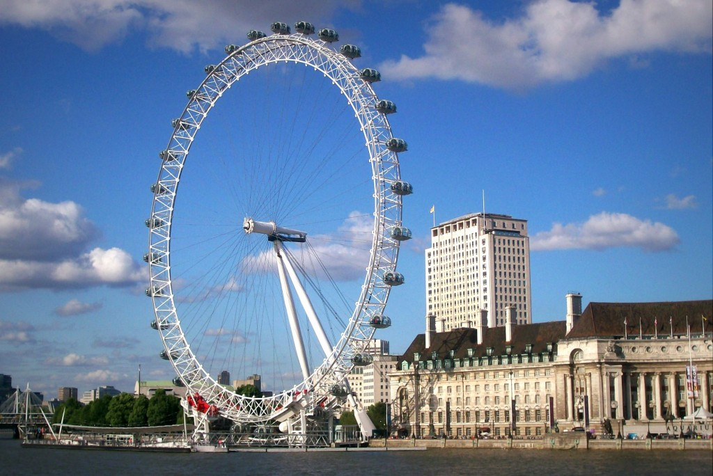 A roda gigante London Eye